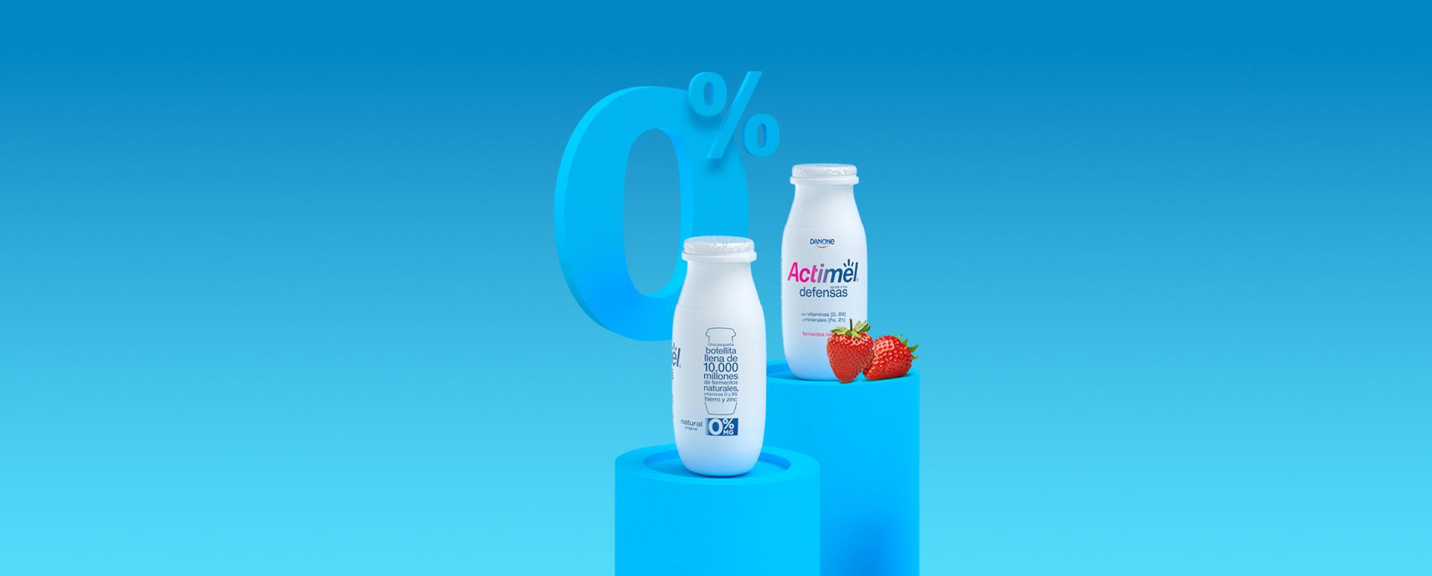Actimel 0% materia grasa Background