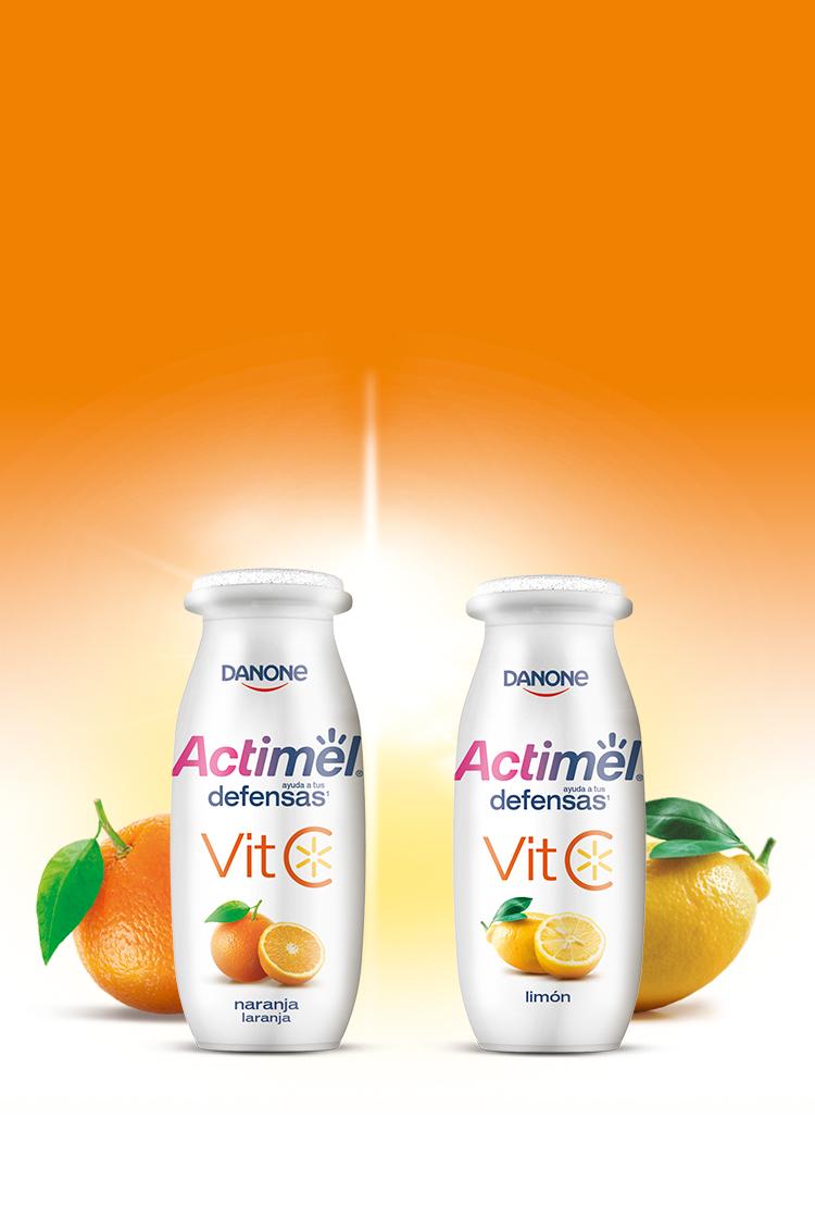 Actimel Vitamina C Mobile Background